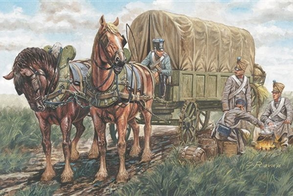 Italeri French Supply Wagon 6886 1 32 54mm Napoleonic