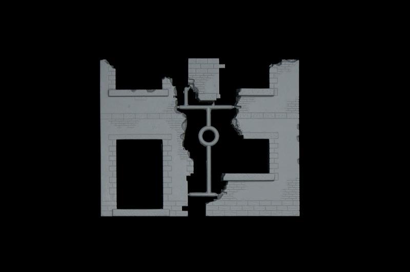 Ruine - 1:35 Haus-Ecke Italeri 6413
