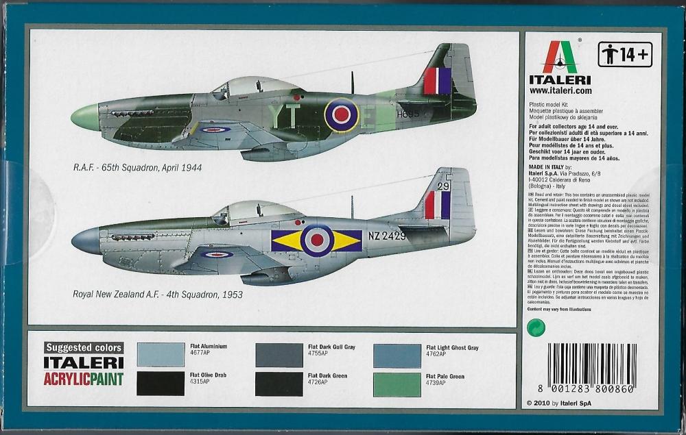 Italeri 1//72 P-51D Mustang # 086