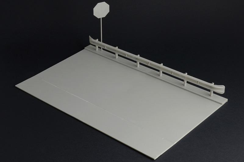 Italeri Guard Rail And Road Section For Display Ita3864