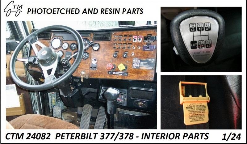 Ctm ctm24082 ctm 24082 ctm 24082 photo etched interior - Peterbilt 379 interior accessories ...
