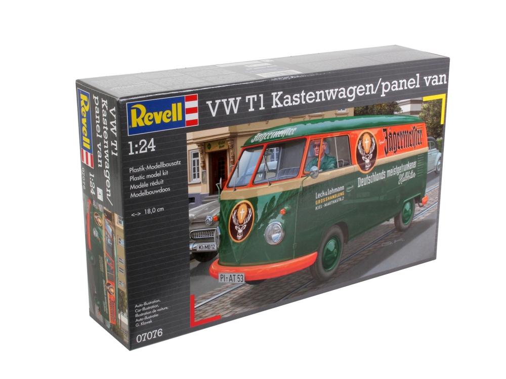 Volkswagen VW T1 Bulli Kastenwagen im... Revell Modellbausatz Auto 1:24