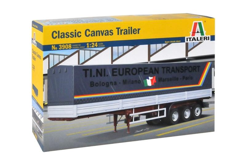 ITALERI; CLASSIC CANVAS TRAILER; ITA3908; ITA 3908; 1:24; 3-AXLE CLASSIC  TARPAULIN TRAILER; 3-AXLE CLASSIC ITALIAN CANVAS TRAILER; ITALIAN AXLE  CONFIGURATION; MODELMAKERSHOP / MODELMAKERSHOP