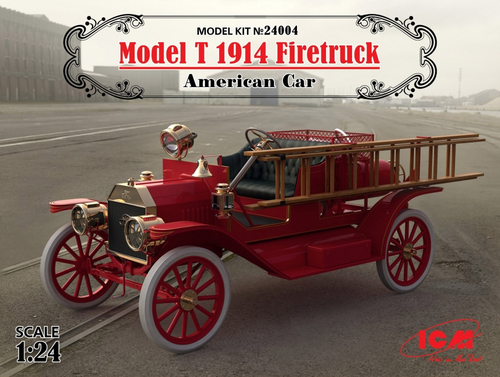 ICM; MODEL T 1914 FIRETRUCK; 1:24; 24004; FIRST MASS PRODUCED CAR ...