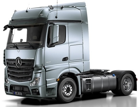Truck Mercedes Benz Actros >> MODELLTRUCK.AT; MERCEDES BENZ ACTROS MP4 BIG SPACE ROOF WITH SPOILER; 1:24; 050304; MB ACTROS MP ...