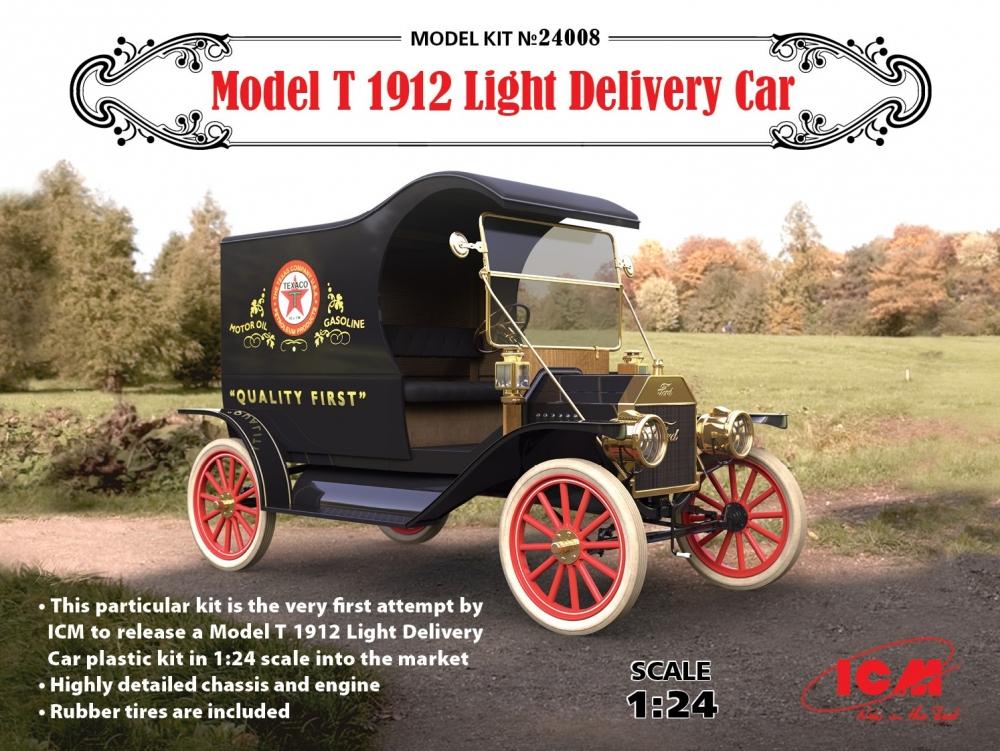 ICM; MODEL T 1912 LIGHT DELIVERY CAR; 1:24; 24008; ICM24008; ICM ...