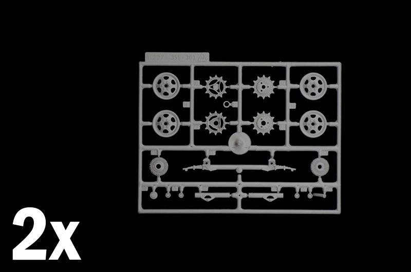 6 Figuren Zubehör 1:35 Italeri 6549 WWII german Kettenschlepper Steyr RSO//01