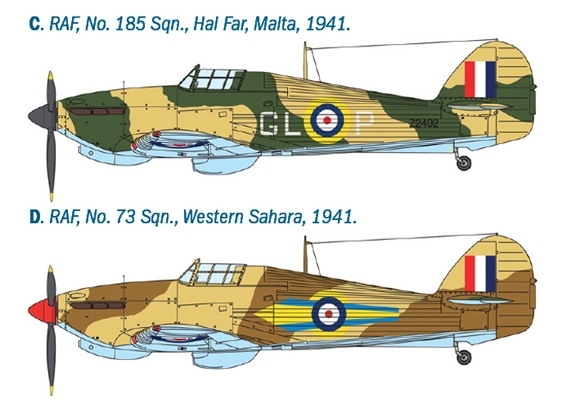 Model Building Kit 48 Hurricane Mk.I Trop Italeri ITA2768 1