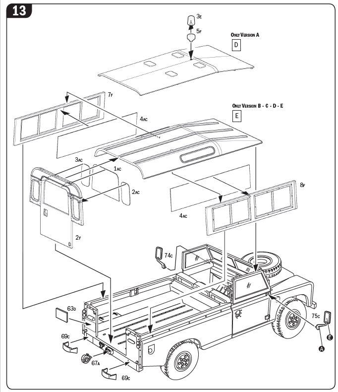 italeri  land rover series iii 109 guardia civil  ita6542  ita 6542  ita
