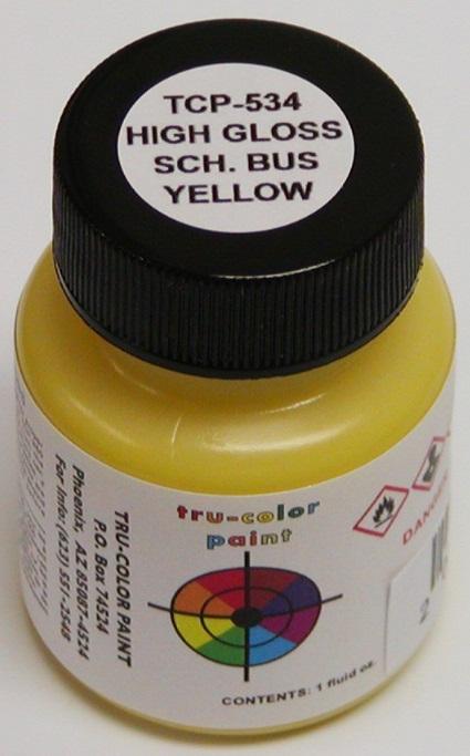 Tru Color Paint Automotive School Bus Yellow Gloss Tcp