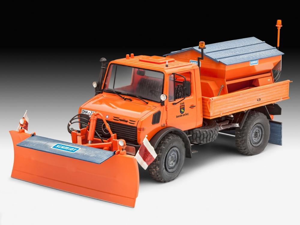Neu Revell 07438-1//24 Mercedes-Benz Unimog U 1300 L Winterdienst